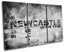 Newcastle England City Typography - 13-2122(00B)-TR32-LO